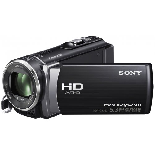 Sony Handycam CX210 Full HD Camcorder - Black (8GB, 5.3MP, 25 x Optical Zoom) 2.7 inch LCD