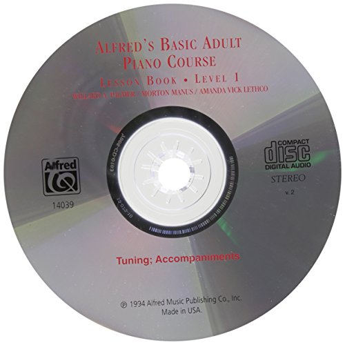 Alfred's Basic Adult Piano Course CD for Lesson Book: Level 1