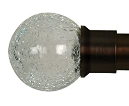 Home Decor Int\'l HDI Crackle Glass Ball Finials, Oil Rubbed Bronze, Set of 2