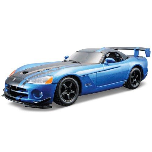 Bburago Model Kit - Dodge Viper SRT10 ACR Car - 1:24 Scale - 18-25091 - Blue (Dodge Viper Model compare prices)