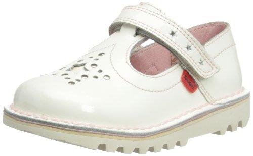 Kickers Girls Kick T Star Mary Jane Flats 112678 White 12 UK Child, 30 EU