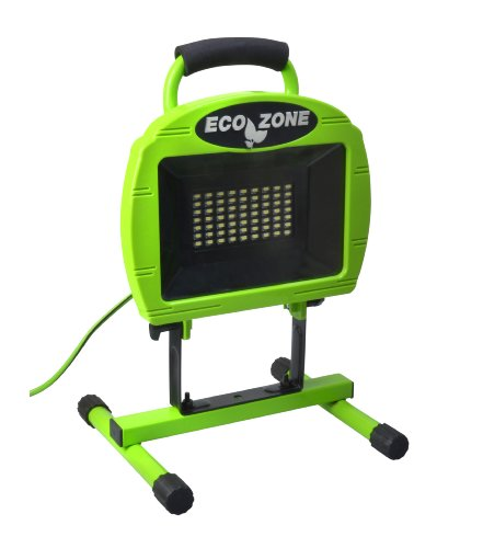 Designers Edge L1315 63-LED 1200-Lumen Portable Ecozone LED Work Light, Green