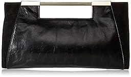 Halston Heritage Lauren E/W Clutch, Black, One Size