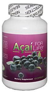 Acai For Life 120 Caps Pure Acai 1300mg Per Day 2 Months Potent Antixoidant Natural Berry Formula Diet Pill Capsules from Acai For Life