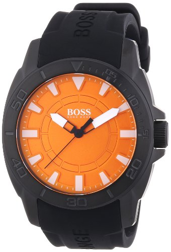 BOSS Orange 1512952 Men's Watch Analogue Quartz Black Silicone Strap