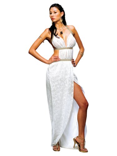 Sexy Grecian Goddess Costume White Dress Theatre Costumes Queen Gorgo Princess