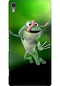 AMEZ designer printed 3d premium high quality back case cover for Sony Xperia C670X (Frog jump)