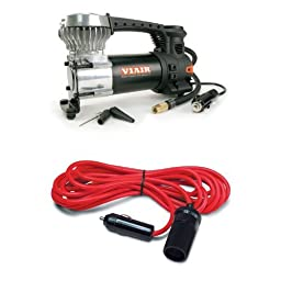 Portable Air Compressor and 12\' Extension Cord Bundle