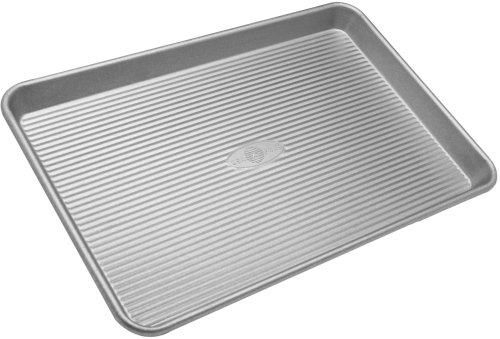 USA Pans 13 x 18 Inch 1-Lb Aluminized Steel Jellyroll Pan with Americoat