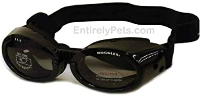Doggles ILS Interchangeable Lens System Metallic Black Frame / Smoke Lens, Sizes: Medium