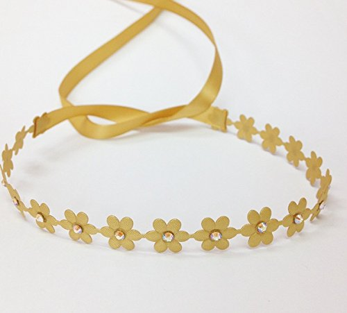 Flower Wrap In Matte Gold With Gold Color Rhinestones front-505998