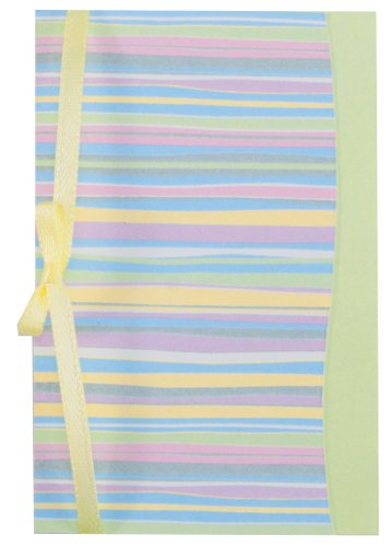 The Gift Wrap Company Gift Enclosure Cards With Green Envelopes, 4 Per Pack, Sweetly Striped front-678147