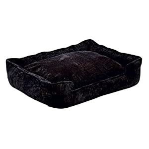 """Corduroy Lounge Bolster Dog Bed Size: Medium / Large (39"""" L x 32"""" W), Color: Midnight"""