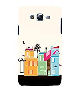 printtech Cartoon House Animated Design Back Case Cover for Samsung Galaxy Grand Prime G530h