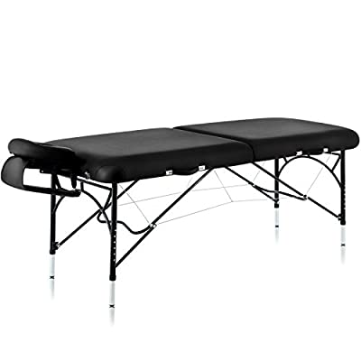 "Dr.lomilomi 30"" Aluminum Portable Massage Table 301 Spa Bed with Carry Case and Cover Sheet Set"