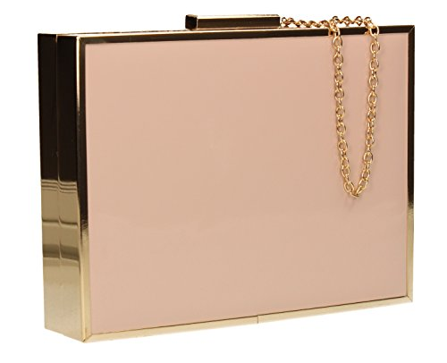SwankySwans-Kate Box in pelle Holograph Frizione, rosa (Blush Pink), Taglia unica