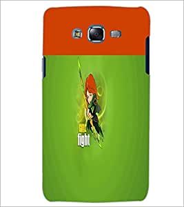 PrintDhaba Girl Fight D-5639 Back Case Cover for SAMSUNG GALAXY ON 7 (Multi-Coloured)