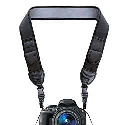 USA Gear Camera Neck Strap Shoulder Sling with Accessory Storage Pockets – Works With Sony SLT-A77 II , Alpha 7S , Cyber-Shot DSC-H400 , DSC-H300 , DSC-HX400V and More Sony DSLR Cameras **Includes Micro-USB Card Reader**