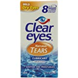 Clear Eyes Tears Mild Natural, 0.5-Ounce Packages (Pack of 3)