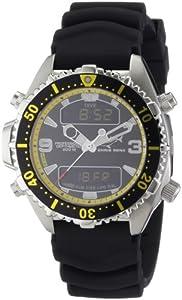 Chris Benz Unisex-Armbanduhr Digital Kautschuk CB-D-BLACKYELLOW-KB