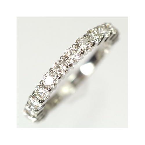 [キュートジュエリー]Cute jewerly ダイヤモンド 指輪 プラチナ ダイヤ1.0ct (鑑別書カード付) エタニティーリング 9