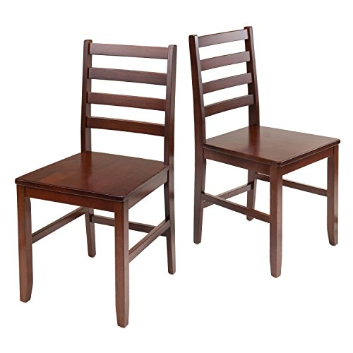 Winsome Wood Hamilton 2-Piece Ladder Back Chair (Dining Chairs Wood compare prices)