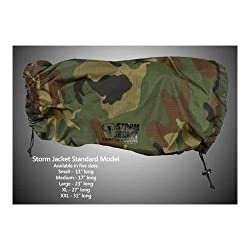 Vortex Media Storm Jacket Cover for an SLR Camera with a Long Lens Measuring 14 to 23 from Rear of Body to Front of Lens Color: Camo