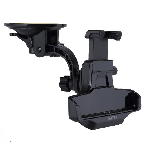 Victsing 360 Degree Rotation Case Compatible Car Charger Charging Mount Cradle Holder For Sony Xperia Z1 L39H/Gps Windshield & Dashboard Compatible