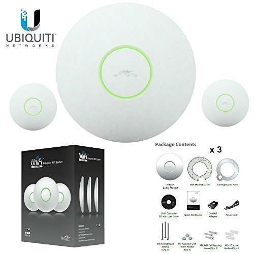 Ubiquiti UAP-LR-3 UniFi AP Enterprise  Long Range WiFi System, 3 Pack (Long Range Wireless Ap compare prices)