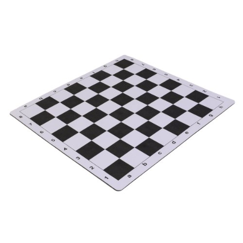 """Wholesale Chess 20"""" Tournament Mousepad Style Roll-Up Chess Board - Black"""
