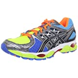 ASICS Men's GEL-Nimbus 14 Running Shoe,Lite Bright/Black/Blue,8.5 M US