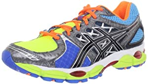 ASICS Men's GEL-Nimbus 14 Running Shoe,Lite Bright/Black/Blue,11 M US