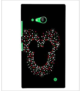 PrintDhaba Mickey Impression D-1961 Back Case Cover for NOKIA LUMIA 730 (Multi-Coloured)
