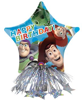 Disney Pixar Toy Story Happy Birthday 14-inch Air-filled Balloon Centerpiece