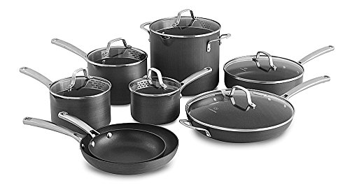 Calphalon Classic Nonstick Cookware Set, 14-piece, Grey (1943336)