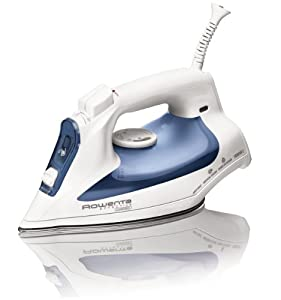 Rowenta DW2070 Effective Comfort Auto-Off 300-Hole Stainless Steel Soleplate Steam Iron,1600-Watt, Blue