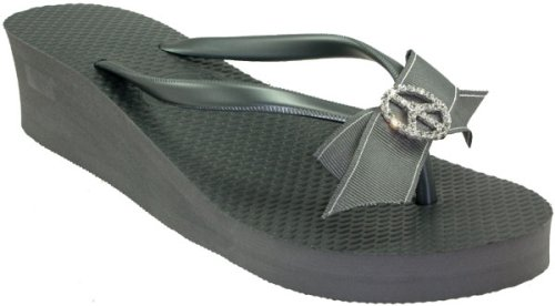 3aac13135f8632 Jamie Kreitman Peace Sign Women s Wedge Sandals details