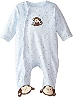 Little Me Baby-Boys Newborn Monkey Star Footie