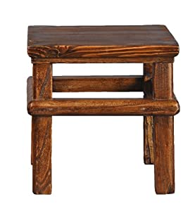 Antique Revival Square Theater Stool