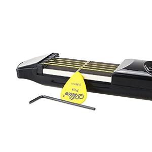 1 portable pocket guitar practice tool gadget 6 fret model w bag pick allen key. Black Bedroom Furniture Sets. Home Design Ideas