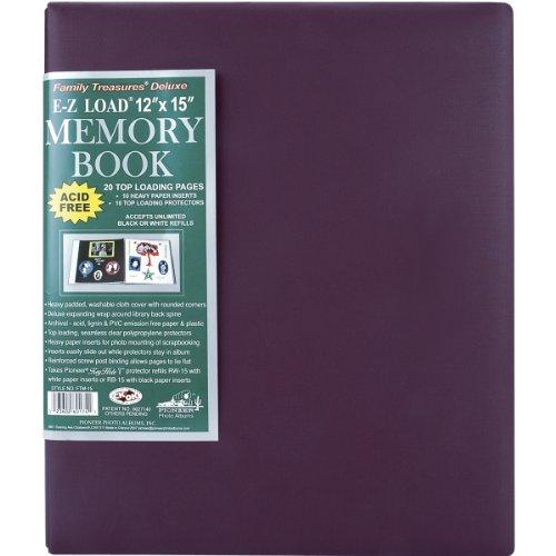 Family Treasures Deluxe Fabric Postbound Album 12X15 - Rich Bordeaux