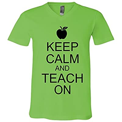 Keep Calm and Teach On V-Neck T-Shirt
