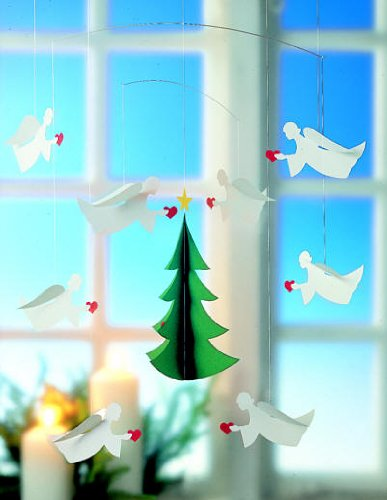 Angels Of Love 8 Mobile by Flensted - 22-Inches - High Quality Cardboard - Handmade in Denmark