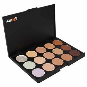 Jazooli 15 Shades Colour Concealer Makeup Palette Kit Make Up Set