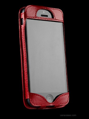Best Price Sena 826006 Wallet Slim Leather Case for iPhone 5 & 5s - 1 Pack - Retail Packaging - Red