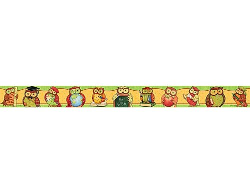 Teacher Created Resources SW Owl Straight Border Trim, Multi Color (4347)