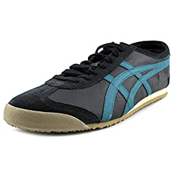 Onitsuka Tiger Mexico 66 Fashion Sneaker, Black/Shaded Spruce, 12.5 M Men\'s US/14 Women\'s M US