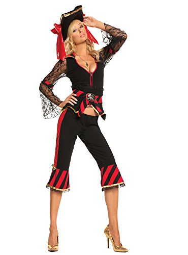 Sexy Treasure Hunter Temptress Pirate Adult Roleplay Costume