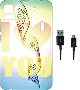 BKDT Marketing Printed Soft Back Cover Combo for Lenovo A7000 / K3 Note With Charging Cable
