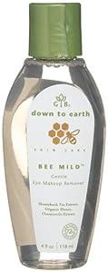 Garden Botanika Bee Mild Gentle Eye Makeup Remover, 4-Ounce Bottle